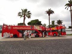 Вот так выглядят туристические автобусы по городу