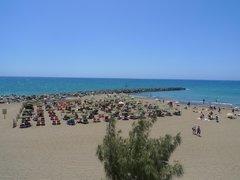 Плайя дель Инглес. Пляж El Veril  у отеля Парк Тропикаль.