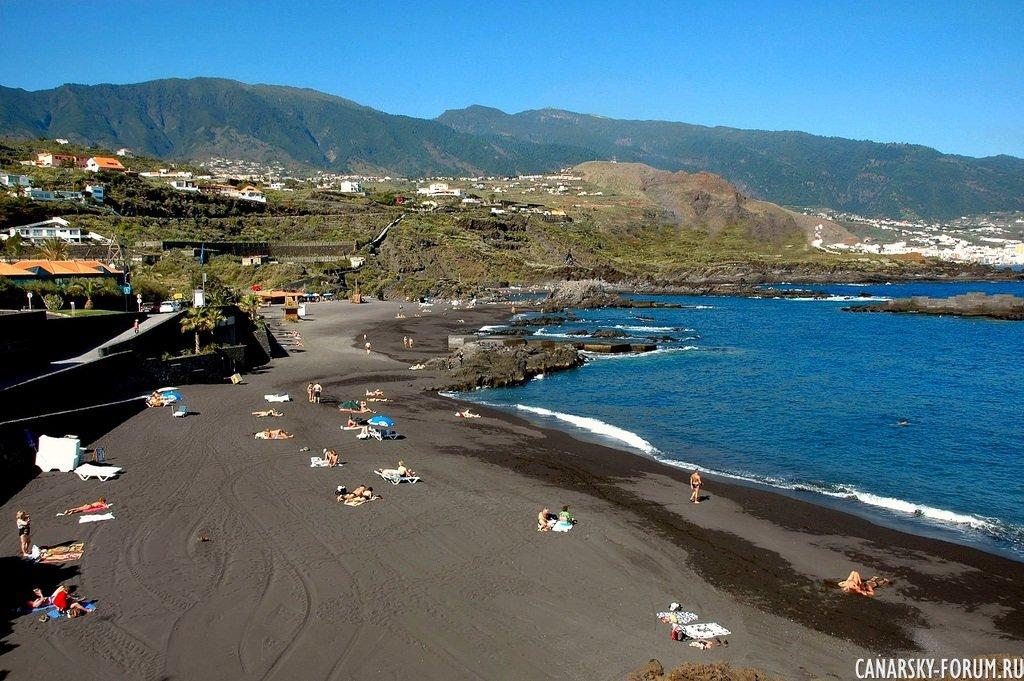 Пляж Los Cancajos. Остров Ла Пальма