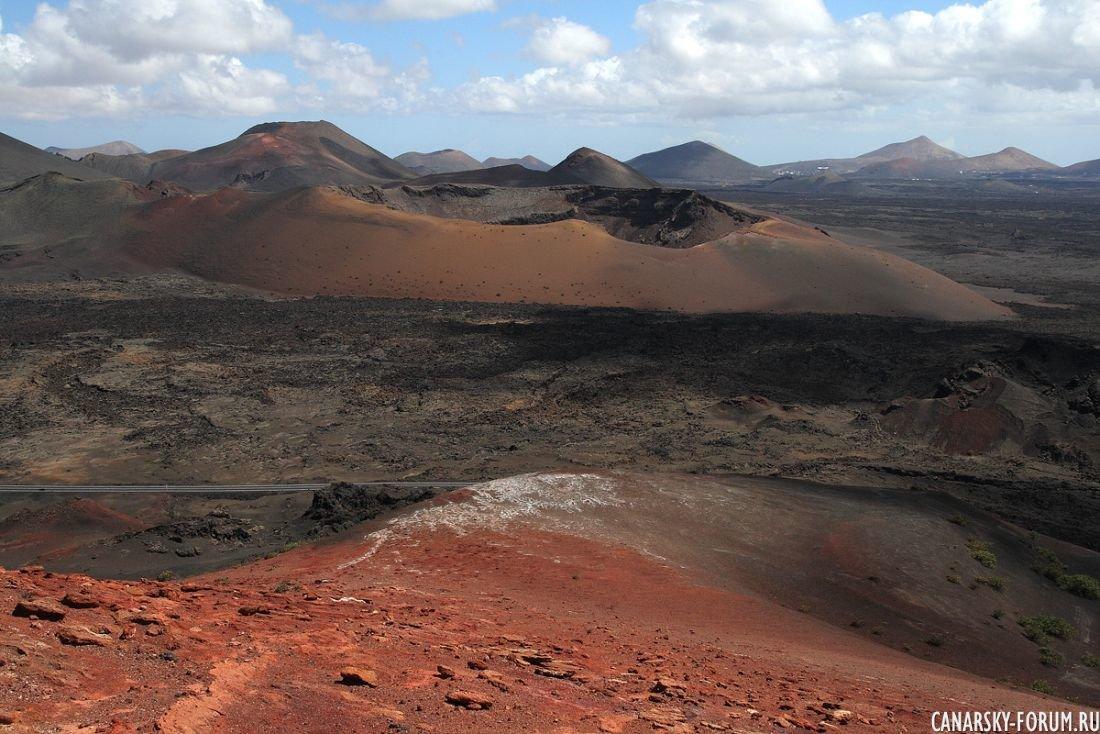 Лансароте, кратеры вулканов.