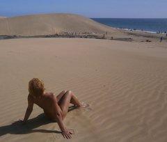 С дюн на океан