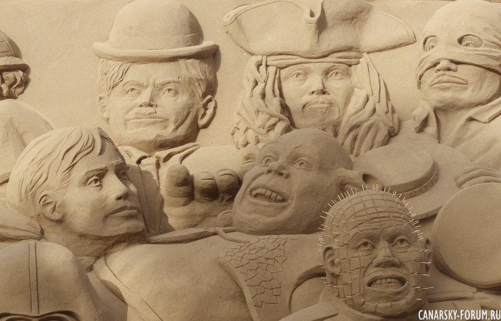 Лэнд-Арт на песчаном пляже Лас Кантерас