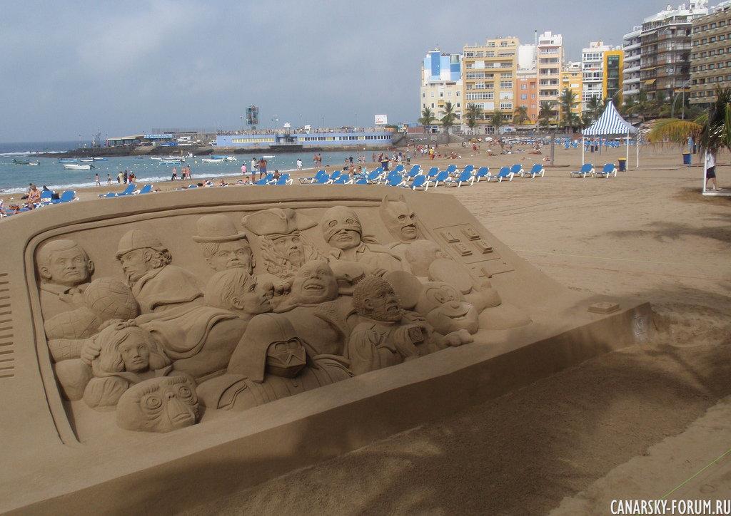 Лэнд-Арт на песчаном пляже Лас Кантерас 3