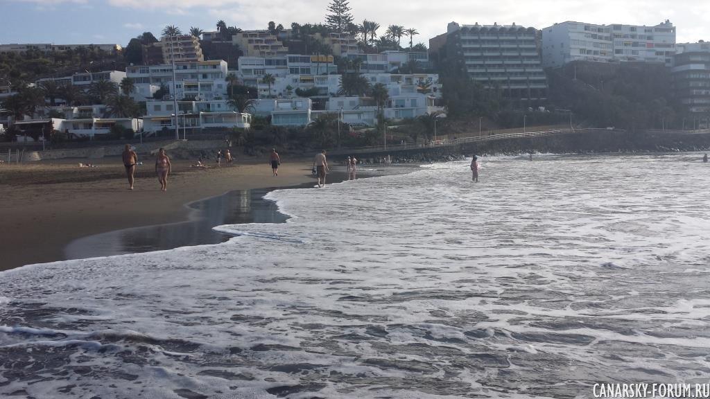 Пляж Сан Агустин вчера.... 2 октября 2014