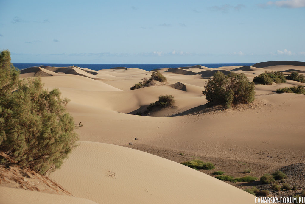 Песчаные дюны на юге острова
