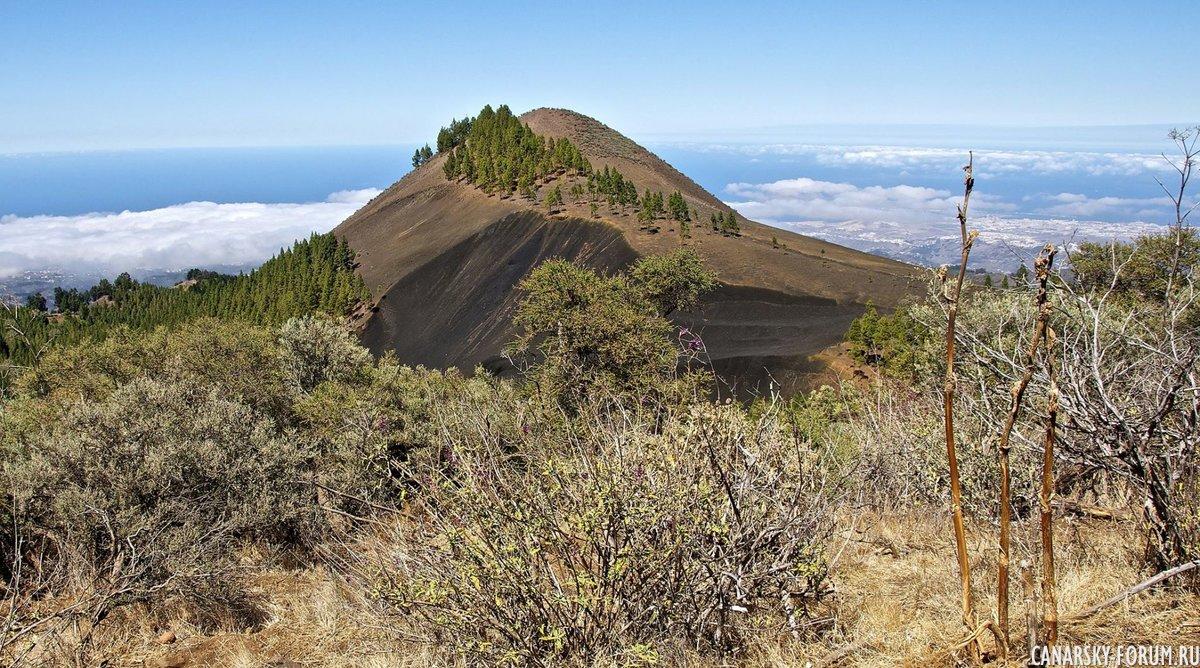 Черный вулканический ландшафт