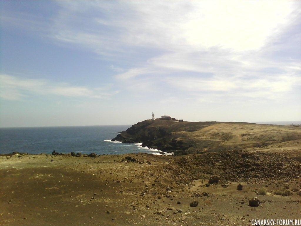 Playa El Cabrón, маяк на полуострове