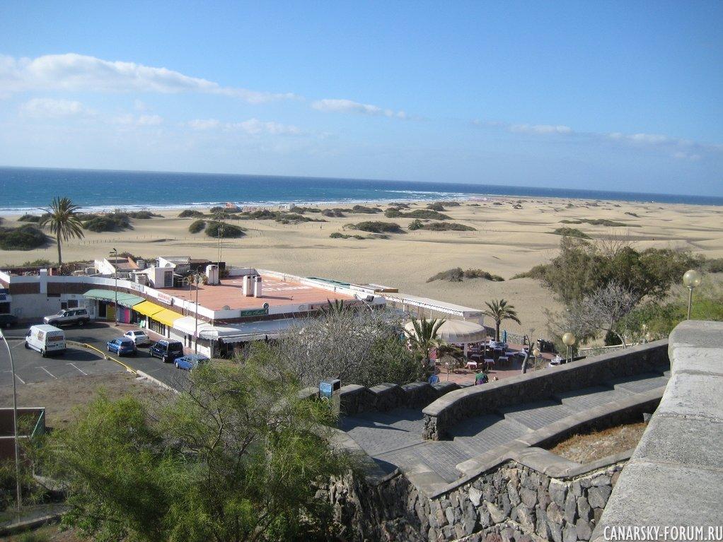 Вид с променада Плайа дель Инглес