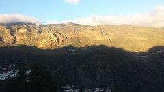 Долина Тираханас, Санта Люсия. Закат.