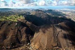 Кратер вулкана (Caldera De Bandama) с высоты птичьего полета
