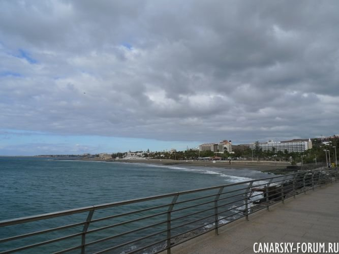 Вид на пляж Сан Агустин
