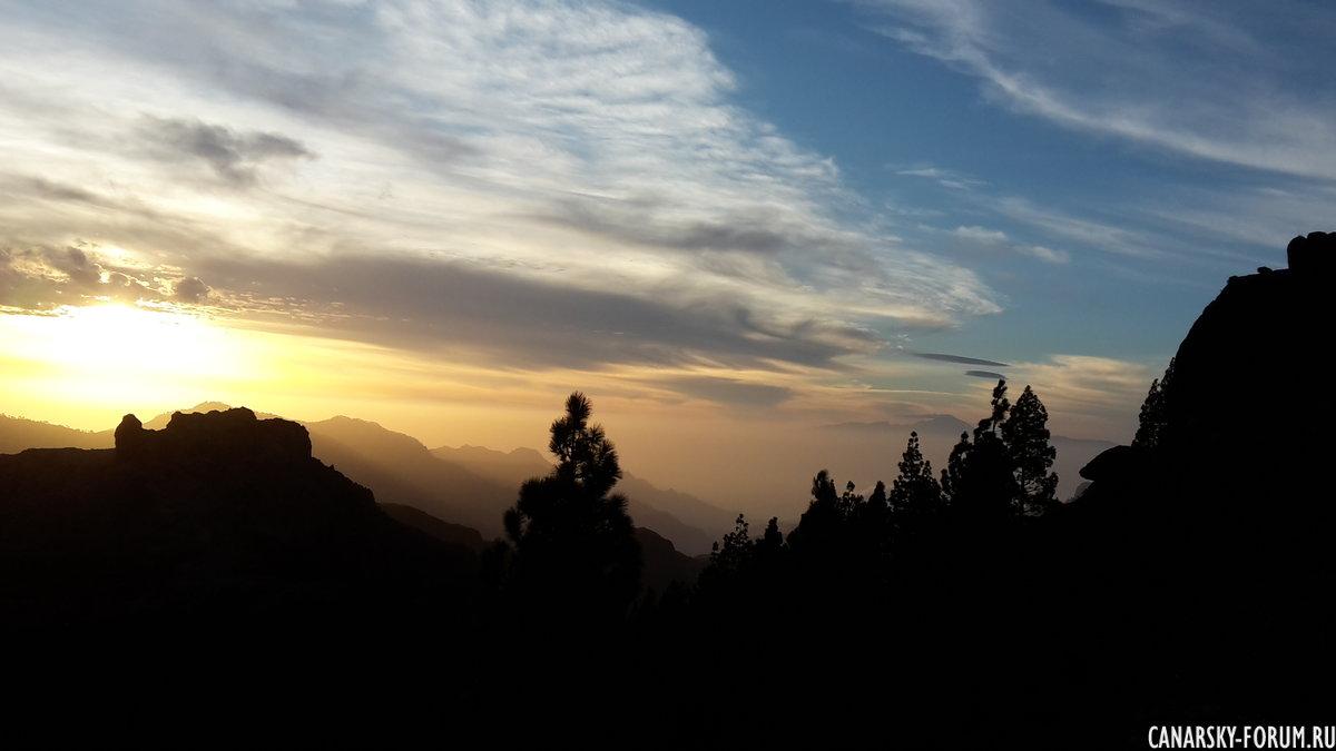 Закат со смотровой площадки Техеды.