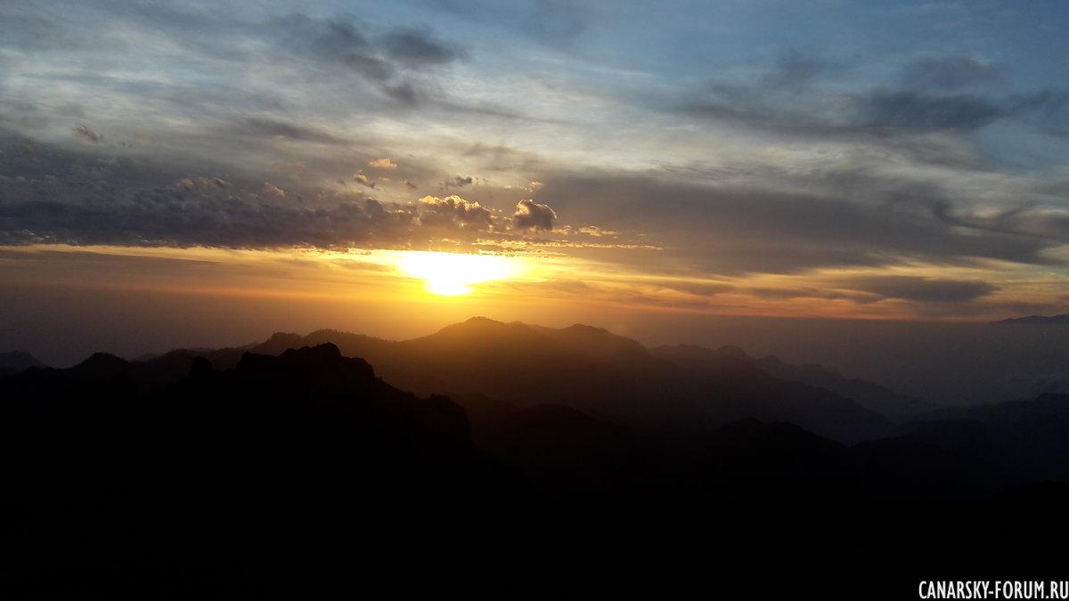 Закат на Роке Нубло.